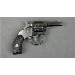 "H & R Young American Model DA pocket  revolver, .22 RF cal., 2"" octagon barrel,  blue finish,, check"
