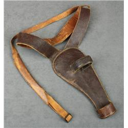 "H.H. Heiser, Denver, Colorado maker leather  shoulder holster for a 5-1/2"" Colt SAA  revolver, in ov"