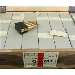 Crate of Greek surplus 30-06 ammunition,  approx. 16 boxes with Garand clips.  Est.:   $100-$200.