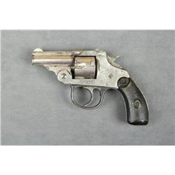 "Iver-Johnson top break DA revolver, .32 cal.,  barrel cut down to 2"", nickel finish,  checkered hard"