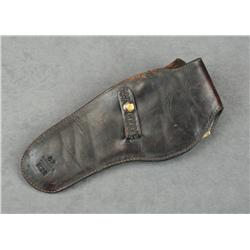 "Basketweave leather holster for a 5-1/2"" SAA  revolver made by Idaho Leather Co. in overall  good co"