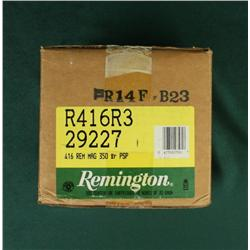 "A ""brick"" of 200 rounds of Remington .416  Rem. Mag. ammo.  Est. $150-$300."