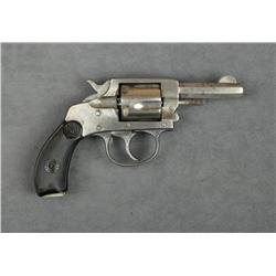 "H & R Model 1905 DA revolver, .32 cal.,  2-1/2"" octagon barrel, nickel finish,  checkered black hard"