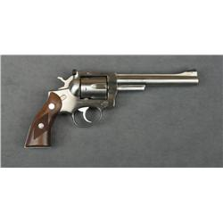 "Ruger Security-Six DA revolver, .357 Magnum  cal., 6"" barrel, stainless steel  construction, checker"
