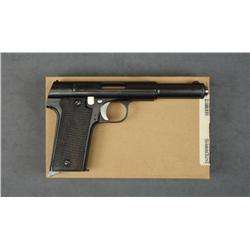 "Astra Model 1921 semi-auto pistol, 9mm and  .38 cal., 6"" barrel, black finish, checkered  wood grips"