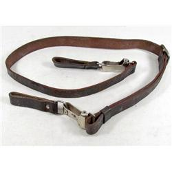 GERMAN NAZI WAFFEN SS OFFICERS LEATHER CROSS STRAP