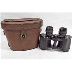 US WW2 ARMY MILITARY REMINGTON BINOCULARS W/ LEATHER CARRYING CASE