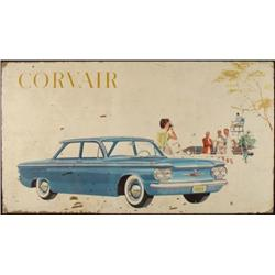 Chevy Corvair 1960 Showroom Vintage Car Auto Sign