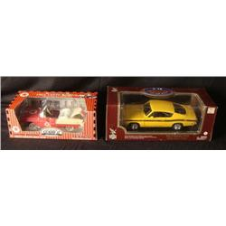 MIB 2 cars Plymouth Barracuda 1969 & 1955 Chevy Bel Air