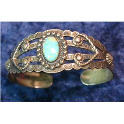 679. Sterling Silver with Turquoise Bracelet.