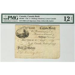 Canada Bank 1792 5 Shillings 6480 CH-60-10-04 PMG F12