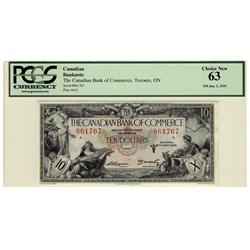 The Canadian Bank of Commerce 1935 $10 861767 CH-75-18-08 PCGS UNC63