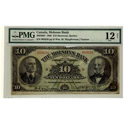 The Molsons Bank 1908 $10 003639 CH-490-30-04 PMG F12