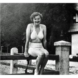 Eva Braun- Hitler's Girlfriend in swimsuit - Real Photo,