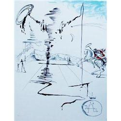 """Dali """"Chevalier"""" Limited Edition With COA. Size apprx. 34""""H x 22""""W"""