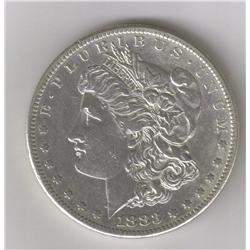 1883-S AU MORGAN SILVER DOLLAR , RARE KEY DATE
