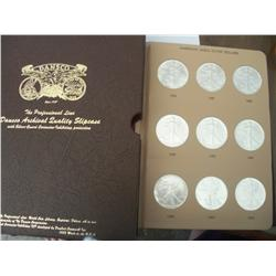 Complete Set Proof Silver Eagles 1986-2010, Proof 68/69/70, 15 Coins In Album