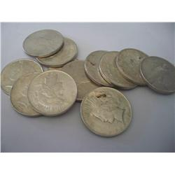 12 Coins 1922 Peace Silver Dollars