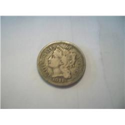 1874 Three Cent Nickel