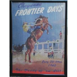 Colorful rodeo poster