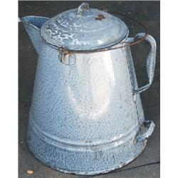 Large graniteware coffee pot