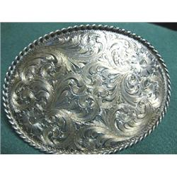 Diablo silver belt buckle