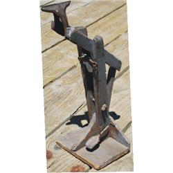 antique leather vise