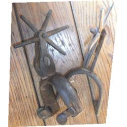 Large Mexican iron spurs
