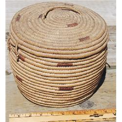 NW coastal Indian lidded basket