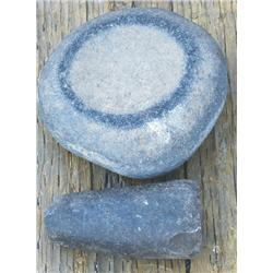 Small Indian stone bowl and pestle