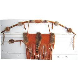 Beaded bow, quiver and arrows