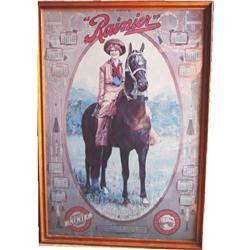 Framed Rainer advertising poster
