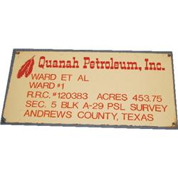 Enamel oil company sign