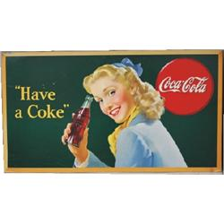 Original 1945 Coke advertising sign
