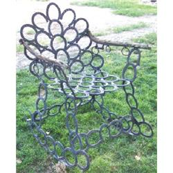 Horse shoe rocking chair