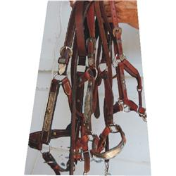 (3) silver mounted show halters