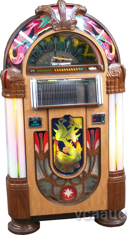 rock ola replica wurlitzer 850 peacock jukebox. Black Bedroom Furniture Sets. Home Design Ideas