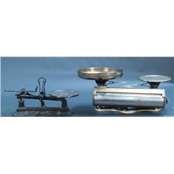 Lot Of 2 Countertop Cast-Iron Weighing Scales: