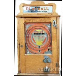 "English Penny Countertop Wood Case ""PLAYBALL"""