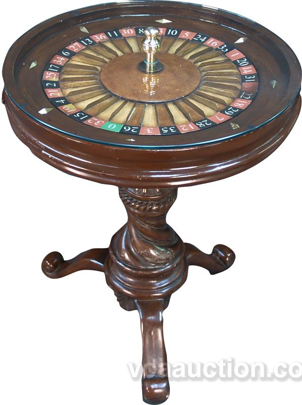 Small roulette wheel side table for Petite table a roulette