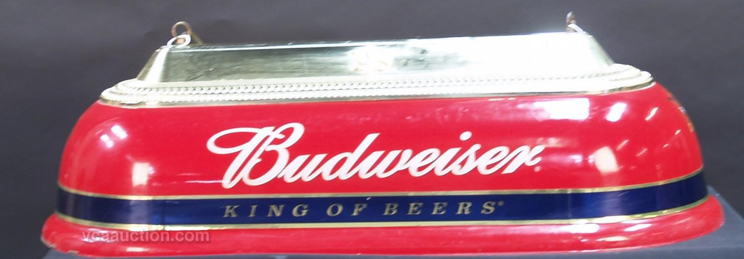 Hanging Plastic Budweiser Pool Table Light - Vintage budweiser pool table light