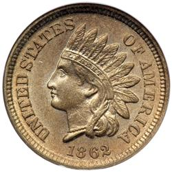 1862 Indian Head 1C NGC MS65