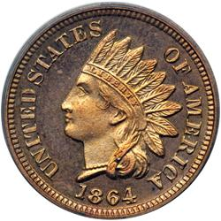 1864 Indian Head 1C. Bronze