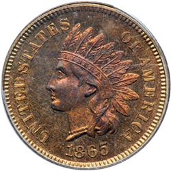 1865 Indian Head 1C PCGS PF65 RD