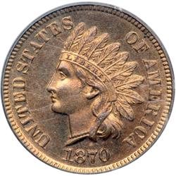 1870 Indian Head 1C PCGS PF65 RD