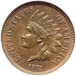 1872 Indian Head 1C NGC MS65