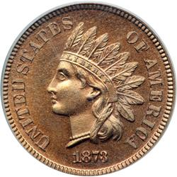 1873 Indian Head 1C. Closed 3 PCGS PF65 RD