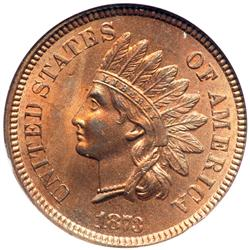 1873 Indian Head 1C. Open 3 NGC MS65