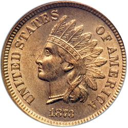 1873 Indian Head 1C. Open 3