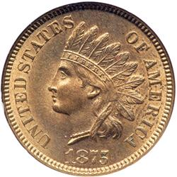 1875 Indian Head 1C NGC MS64